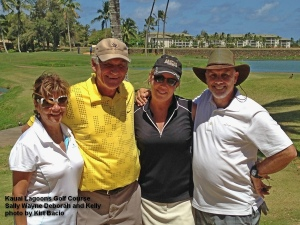 2015-05-03--#01--Golf at Kauai Lagoons - Sally Wayne Deborah and Kelly