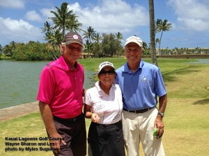 2015-05-16--#01--Golf at Kauai Lagoons - Wayne Sharon and Les