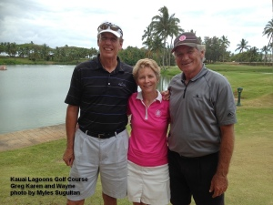 2015-05-21--#01--Golf at Kauai Lagoons - Greg Karen and Wayne