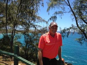 Wayne on the 16th tee at the Kauai Lagoons Golf Course.