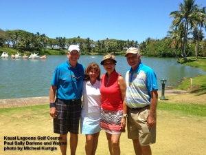2015-06-13--#00--Golf at Kauai Lagoons - Paul Sally Darlene and Wayne