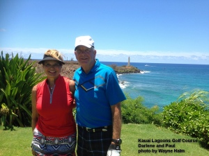 Darlene and Paul on the 15th Tee.