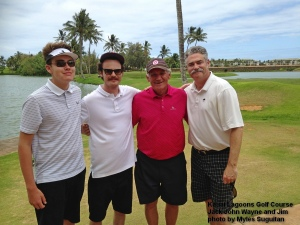2015-06-19--#01--Golf at Kauai Lagoons - Jack John Wayne and Jim