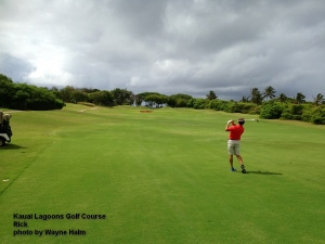 Rick on the 9th fairway.
