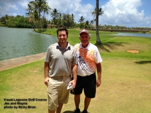 2015-06-25--#01--Golf at Kauai Lagoons - Jim and Wayne