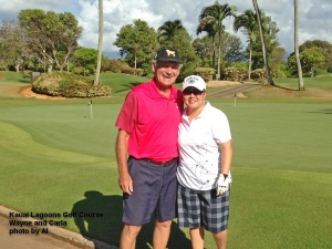 2015-06-28--#01--Golf at Kauai Lagoons - Wayne and Carla