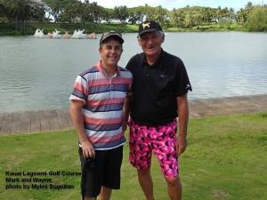 2015-06-30--#01--Golf at Kauai Lagoons - Mark and Wayne