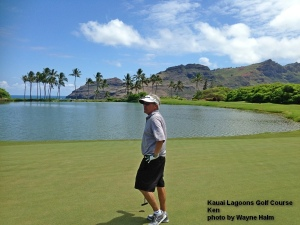 Sometimes it is hard to ignore the scenery long enough to lineup the putts – but Ken managed.