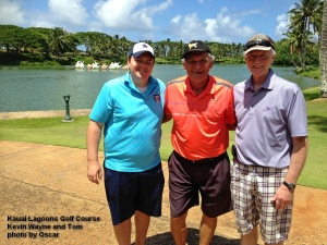 2015-08-12--#01--Golf at Kauai Lagoons - Kevin Wayne and Tom