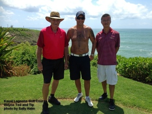 Wayne, Ted, and Tip on the 14th tee.