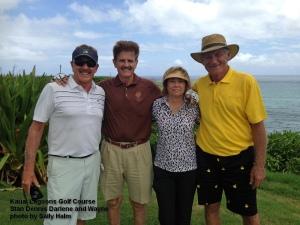 2015-09-13--#01--Golf at Kauai Lagoons - Stan Dennis Darlene and Wayne