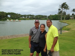 2015-10-04--#01--Golf at Kauai Lagoons - Wayne April and Cordell