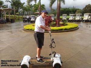 Morrie on a Golf Board