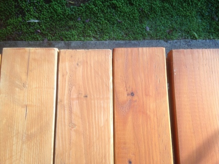 2015-11-20--#02--Deck Rebuild - Closeup Sanded boards