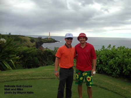 Matt and Mike on the Hokuala Golf Club