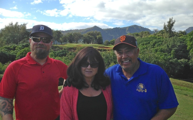 Scott Trish and Jack on the Hokuala Golf Club in Kauai