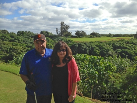 Jack and Trish 0n the Hokuala Golf Club in Kauai