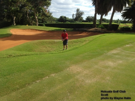 Scott on the Hokuala Golf Club in Kauai