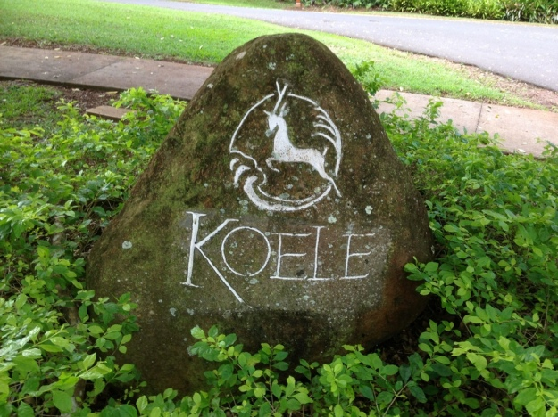 Koele Golf Course Sign on Lanai