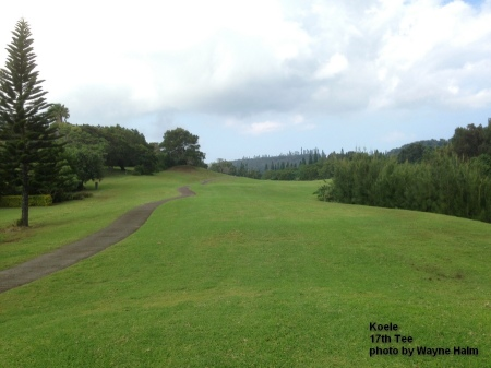 17th tee on the Koele Golf Course on Lanai