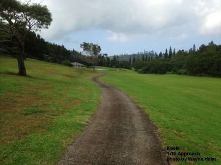 17th hole approach on the Koele Golf Course on Lanai