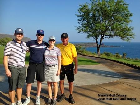 2016-01-14--#01--Lanai Golf - Josh Matt Beth and Wayne