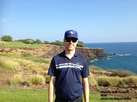 Matt on the 17th tee at the Manele Golf Course on Lanai.
