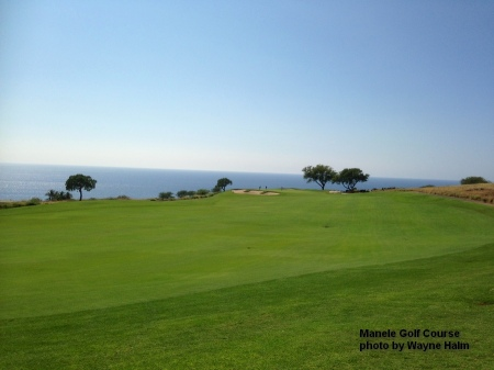 A fairway at the Manele Golf Course on Lanai.