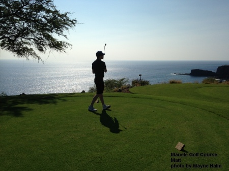 Matt on the Manele Golf Course on Lanai.