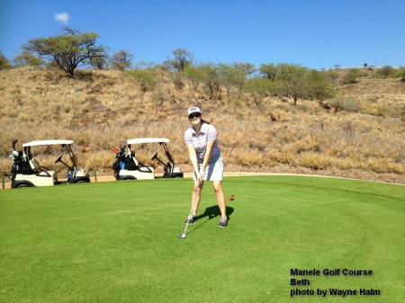 ( Beth on the Manele Golf Course on Lanai.
