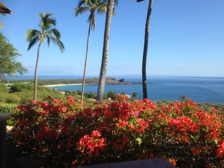 View from the restaurant at the Manele Golf Club on Lanai.