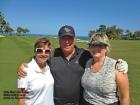 Sally, Mark, and Susan on the Makai Golf Course on Kauai.