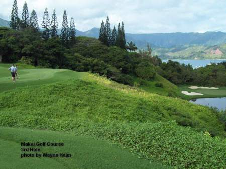 The third hole on the Makai Golf Course on Kauai.