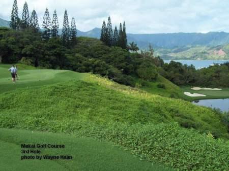 The third hole on the Makai Golf Course on Kauai.