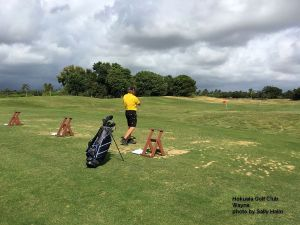 Wayne on the range at the Hokuala Golf Course on Kauai