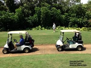 Laura on the 6th tee at the Hokuala Golf Course on Kauai.