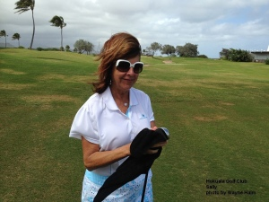 Sally at the Holuala Golf Club on Kauai