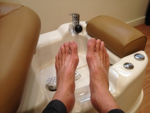 The result. As I notice the flip-flop tan lines I realized that my feet are seen more than most - but still, do this!
