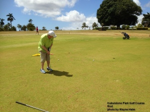 Rod on the Kukuiolono Park Golf Course on Kauai