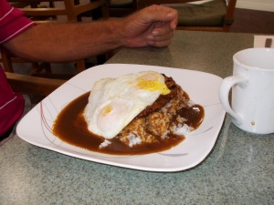The Loco Moco served at the Ho'okipa Café.
