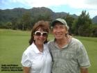 Sally and Palmer at the Puakea Golf Course on Kauai.