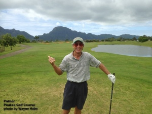 Palmer on the Puakea Golf Course on Kauai.
