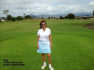 Sally on the Puakea Golf Course on Kauai.