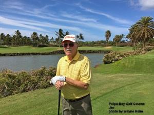 Jim on the Poipu Bay Golf Course on Kauai