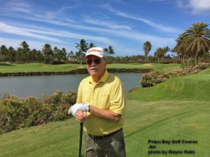Jim on the Poipu Bay Golf Course on Kauai