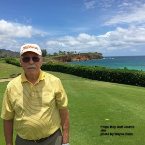 Jim on the Poipu Bay Golf Course on Kauai.