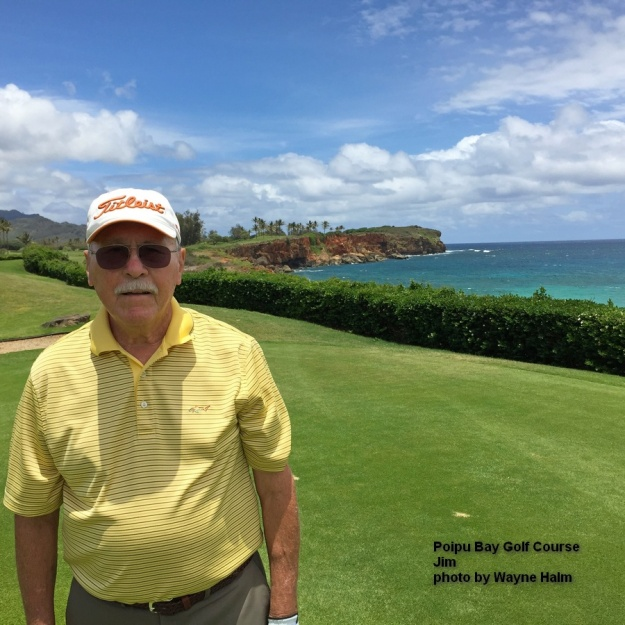 Jim on the Poipu Bay Golf Course on Kauai.