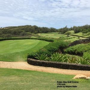 The 17th hole on the Poipu Bay Golf Course on Kauai.