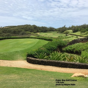 The 17th hole on the Poipu Bay Golf Course on Kauai.