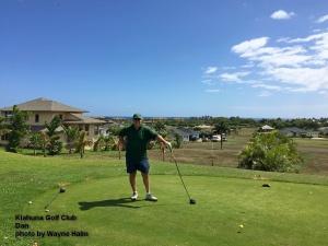 Dan at the Kiahuna Golf Club on Kauai.